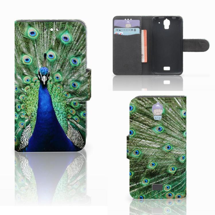 Huawei Y360 Telefoonhoesje met Pasjes Pauw