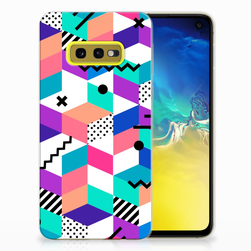 Samsung Galaxy S10e TPU Hoesje Blokken Kleurrijk