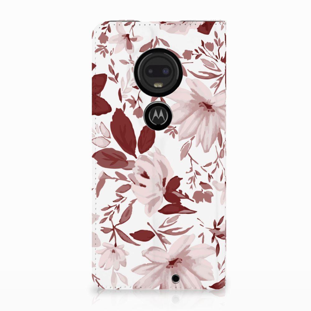 Motorola Moto G7 | G7 Plus Uniek Standcase Hoesje Watercolor Flowers