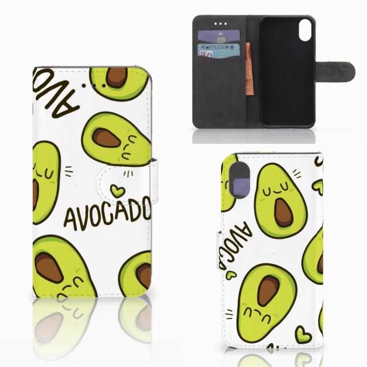 Apple iPhone X | Xs Leuke Hoesje Avocado Singing
