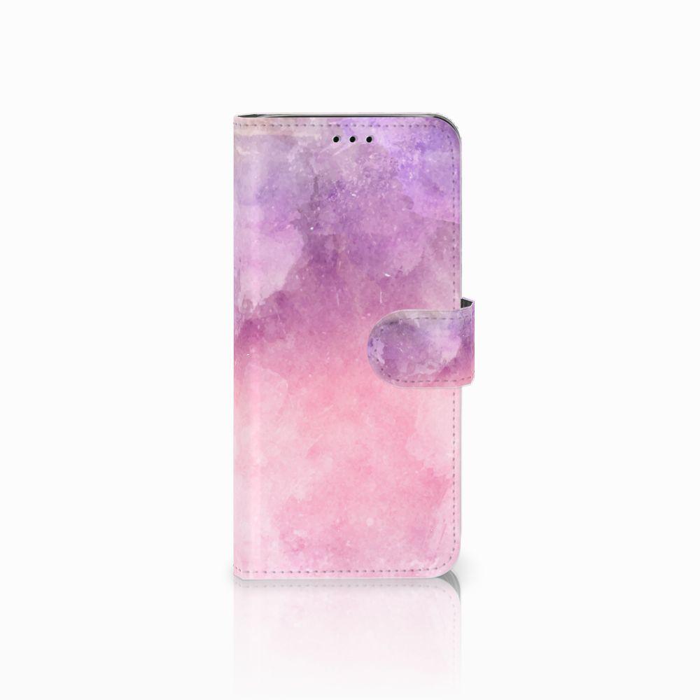 Samsung Galaxy J6 2018 Boekhoesje Design Pink Purple Paint