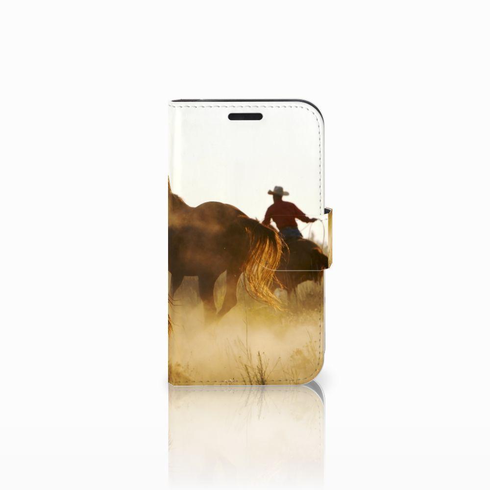 LG K4 Telefoonhoesje met Pasjes Design Cowboy