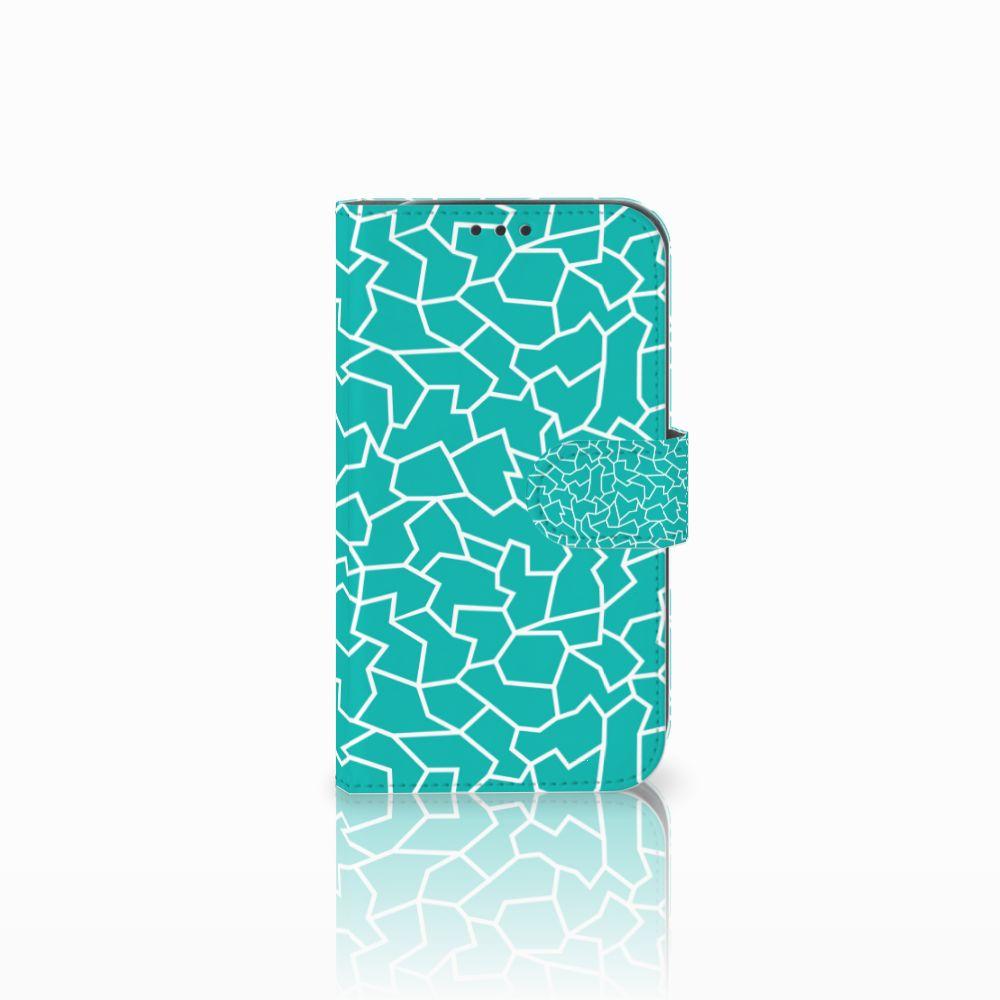 Samsung Galaxy Xcover 4 Boekhoesje Design Cracks Blue