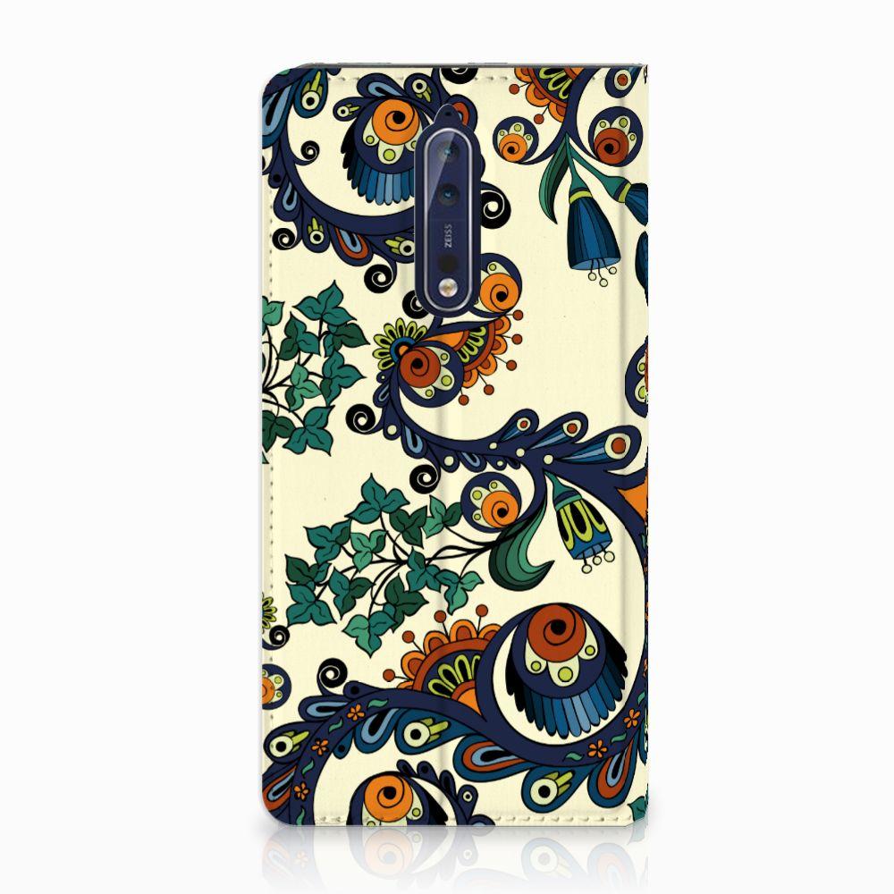 Telefoon Hoesje Nokia 8 Barok Flower