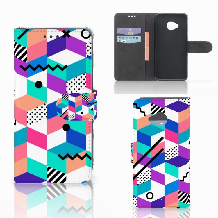 HTC U11 Life Bookcase Blokken Kleurrijk