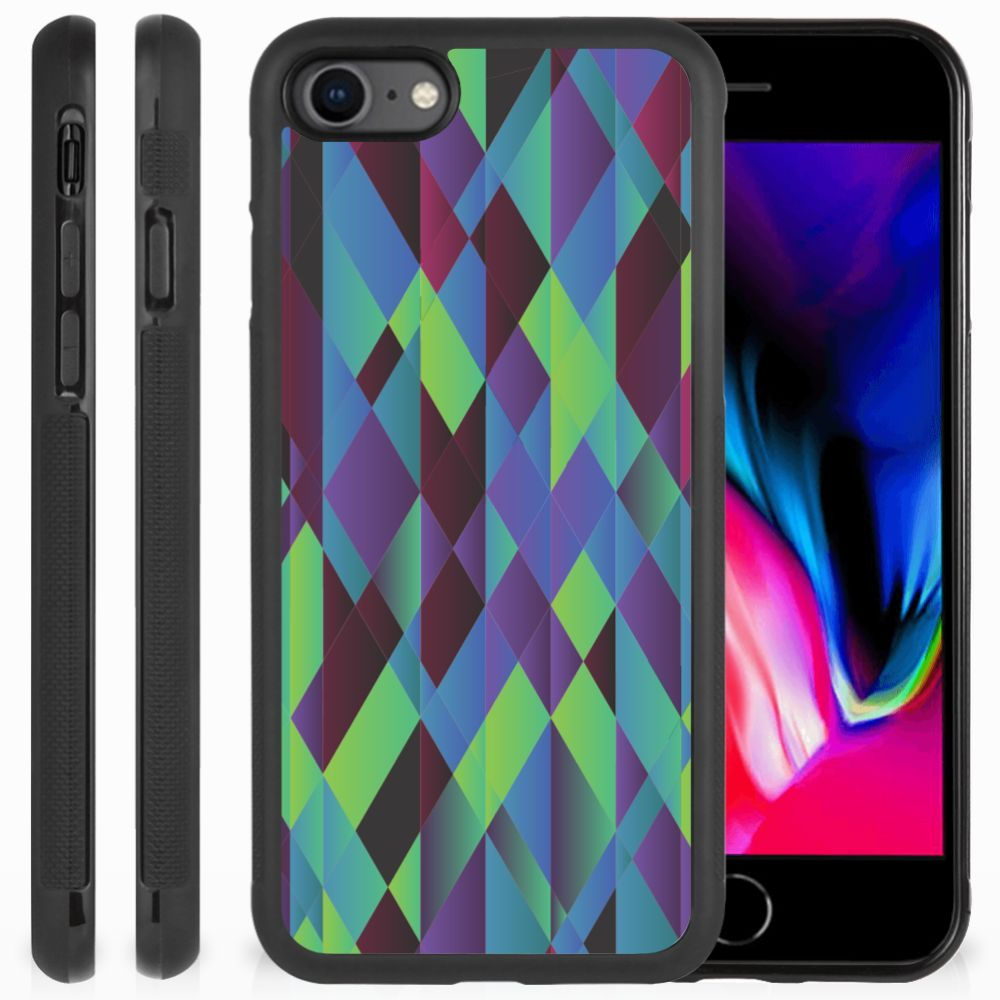 Apple iPhone 7 | 8 Grip Case Abstract Green Blue