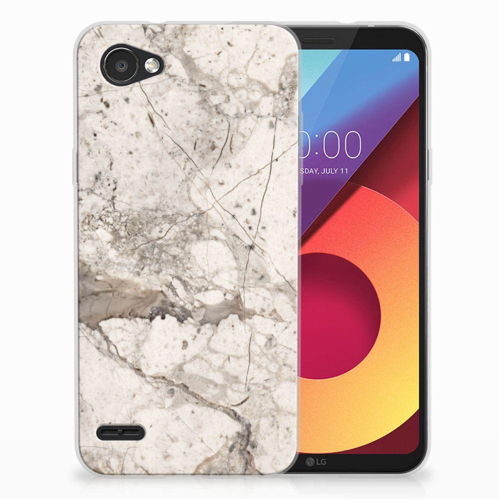 LG Q6 | LG Q6 Plus TPU Hoesje Design Marmer Beige