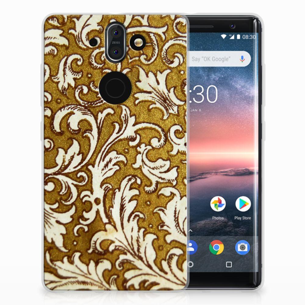 Nokia 9 | 8 Sirocco TPU Hoesje Design Barok Goud