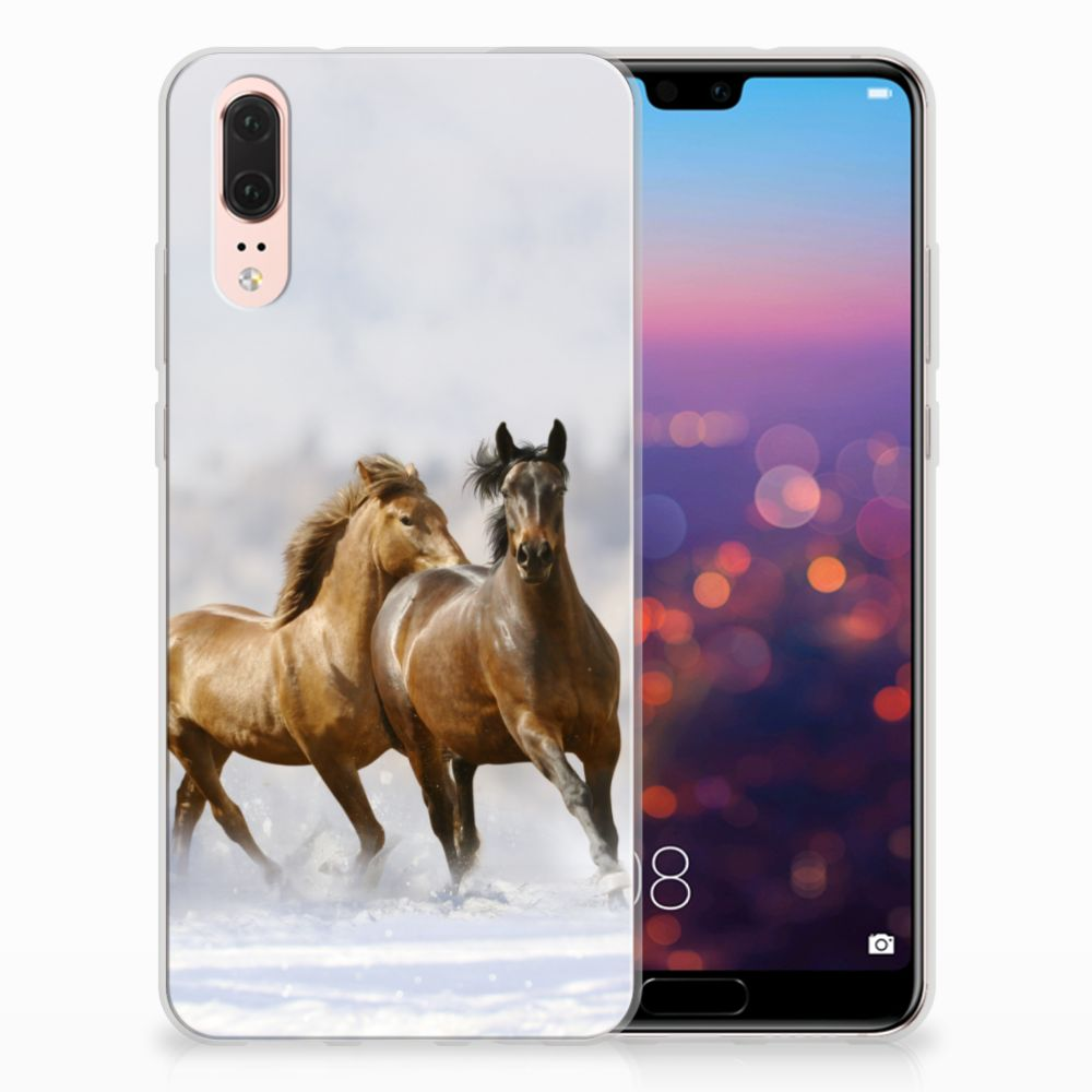 Huawei P20 Uniek TPU Hoesje Paarden