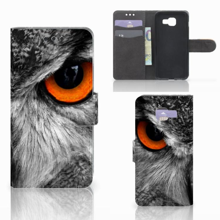 Samsung Galaxy A3 2016 Telefoonhoesje met Pasjes Uil