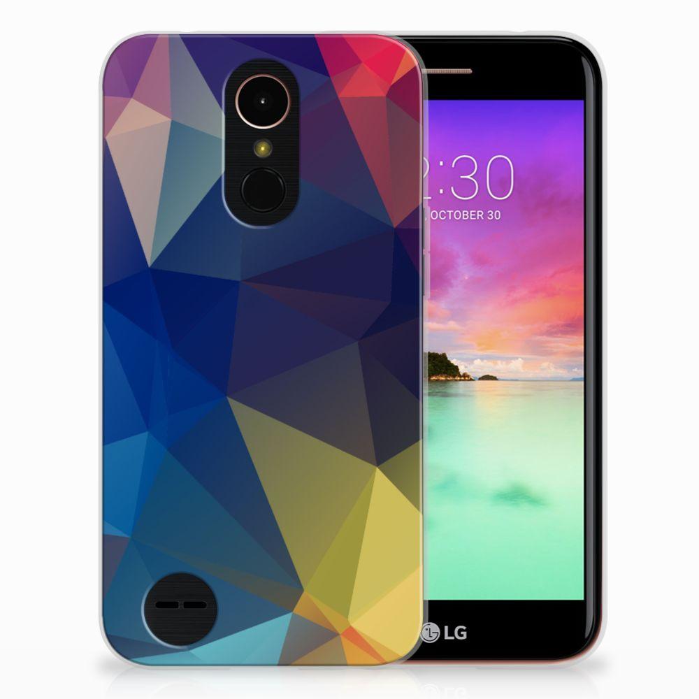 LG K10 2017 TPU Hoesje Polygon Dark