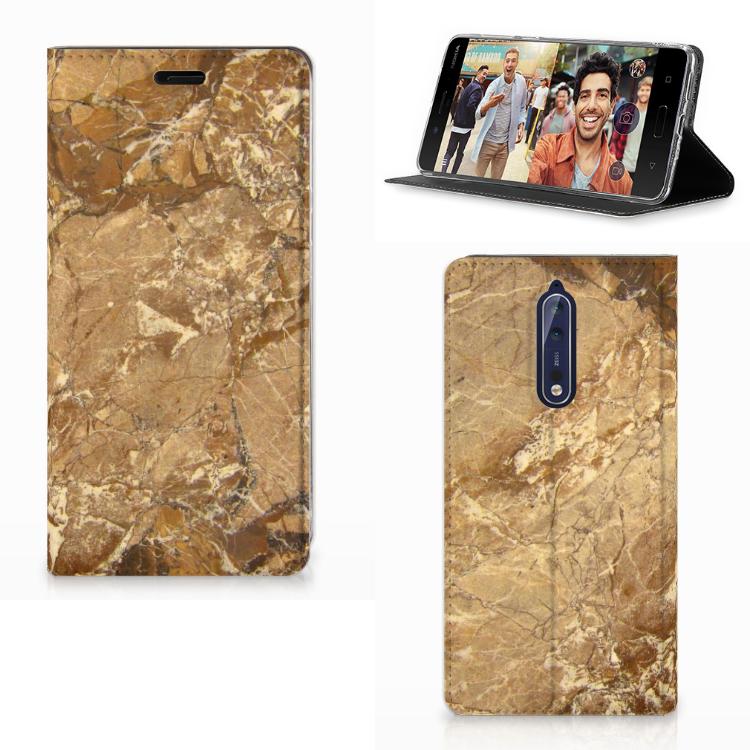 Nokia 8 Standcase Marmer Creme