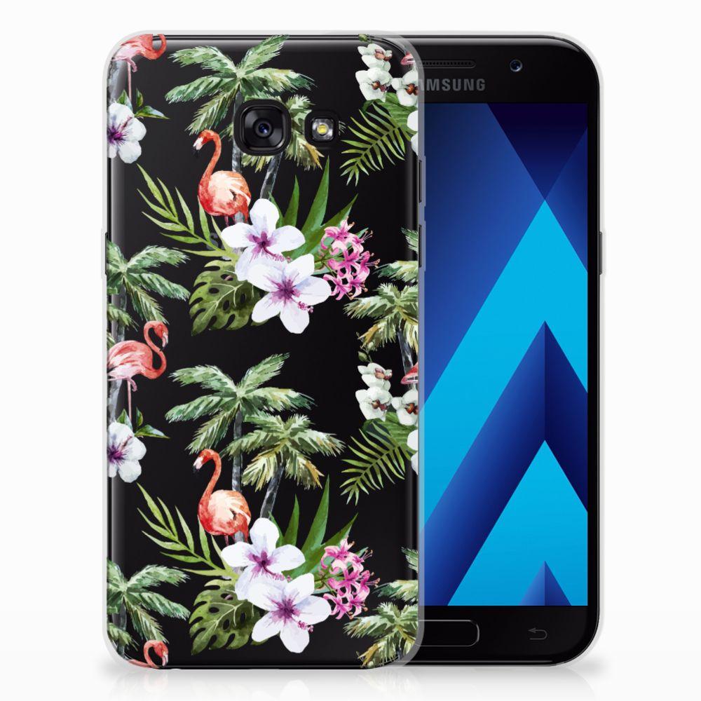 Samsung Galaxy A5 2017 TPU Hoesje Flamingo Palms