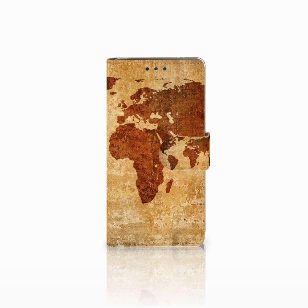 LG Bello 2 Flip Cover Wereldkaart