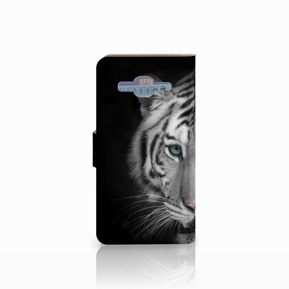 Samsung Galaxy J2 2016 Telefoonhoesje met Pasjes Tijger