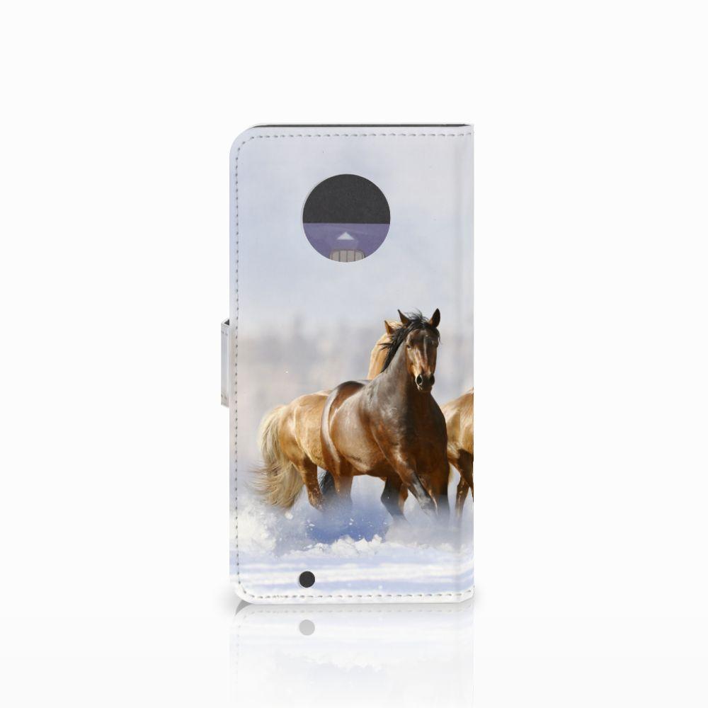 Motorola Moto G6 Telefoonhoesje met Pasjes Paarden