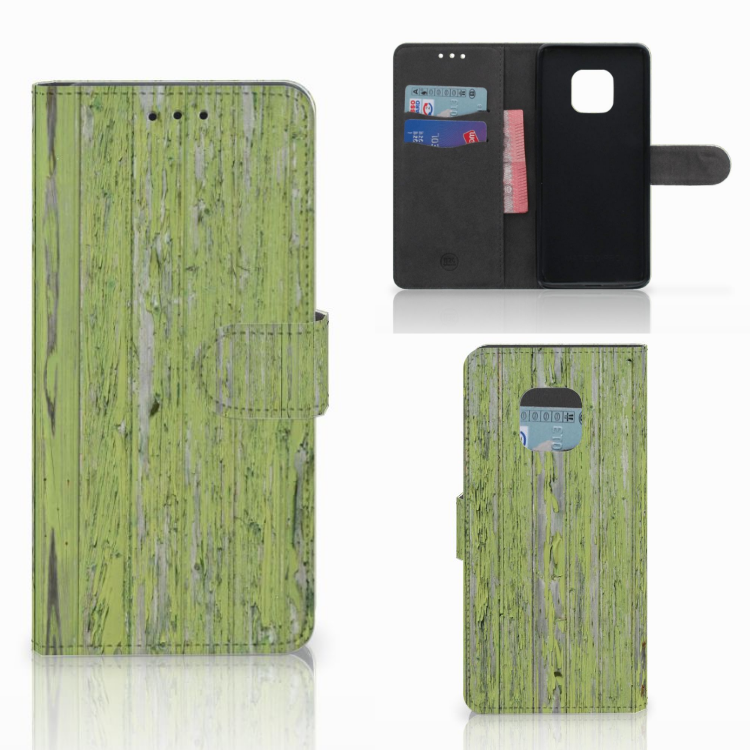 Huawei Mate 20 Pro Book Style Case Green Wood