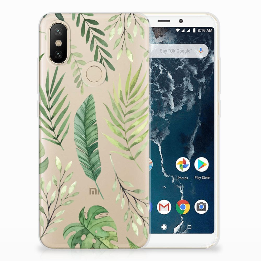 Xiaomi Mi A2 TPU Case Leaves