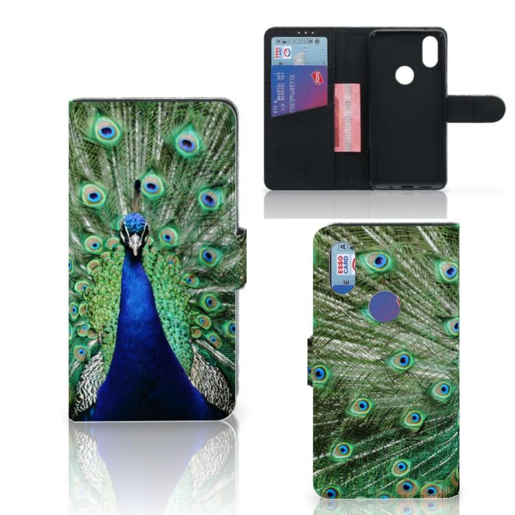 Xiaomi Mi Mix 2s Telefoonhoesje met Pasjes Pauw