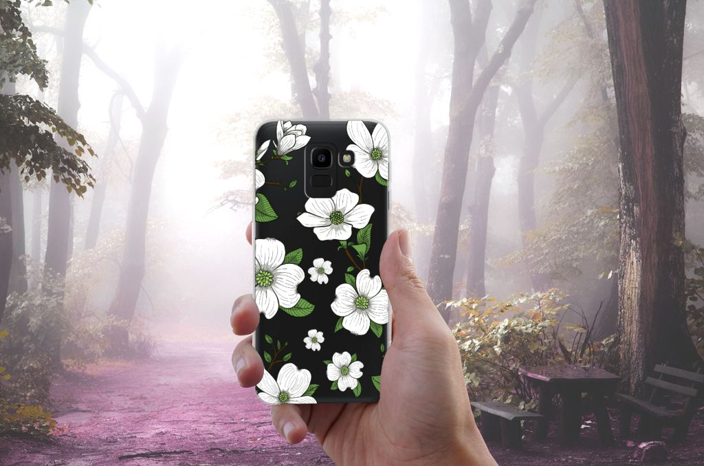 Samsung Galaxy J6 2018 TPU Hoesje Design Dogwood Flowers