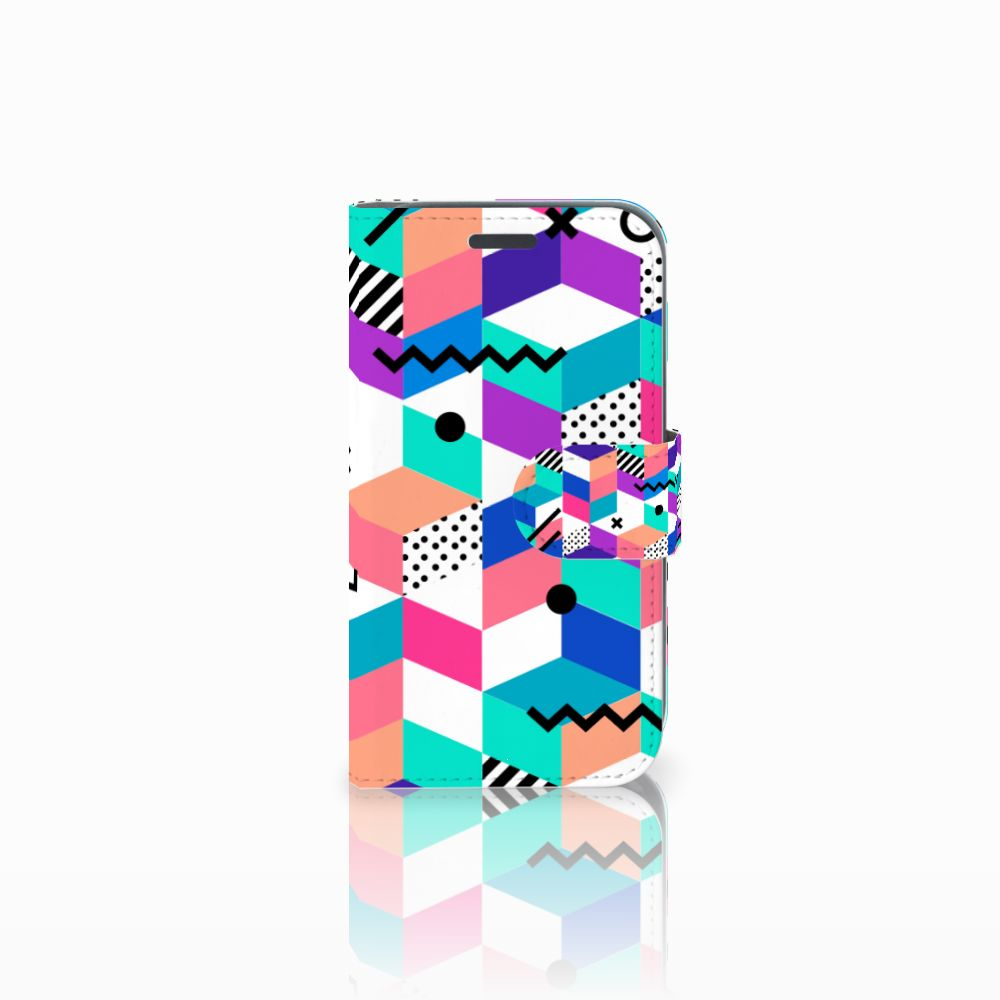 Samsung Galaxy J1 2016 Bookcase Blokken Kleurrijk