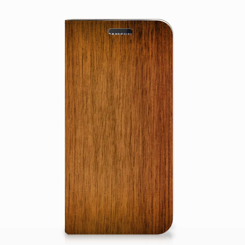 Samsung Galaxy J5 2017 Book Wallet Case Donker Hout