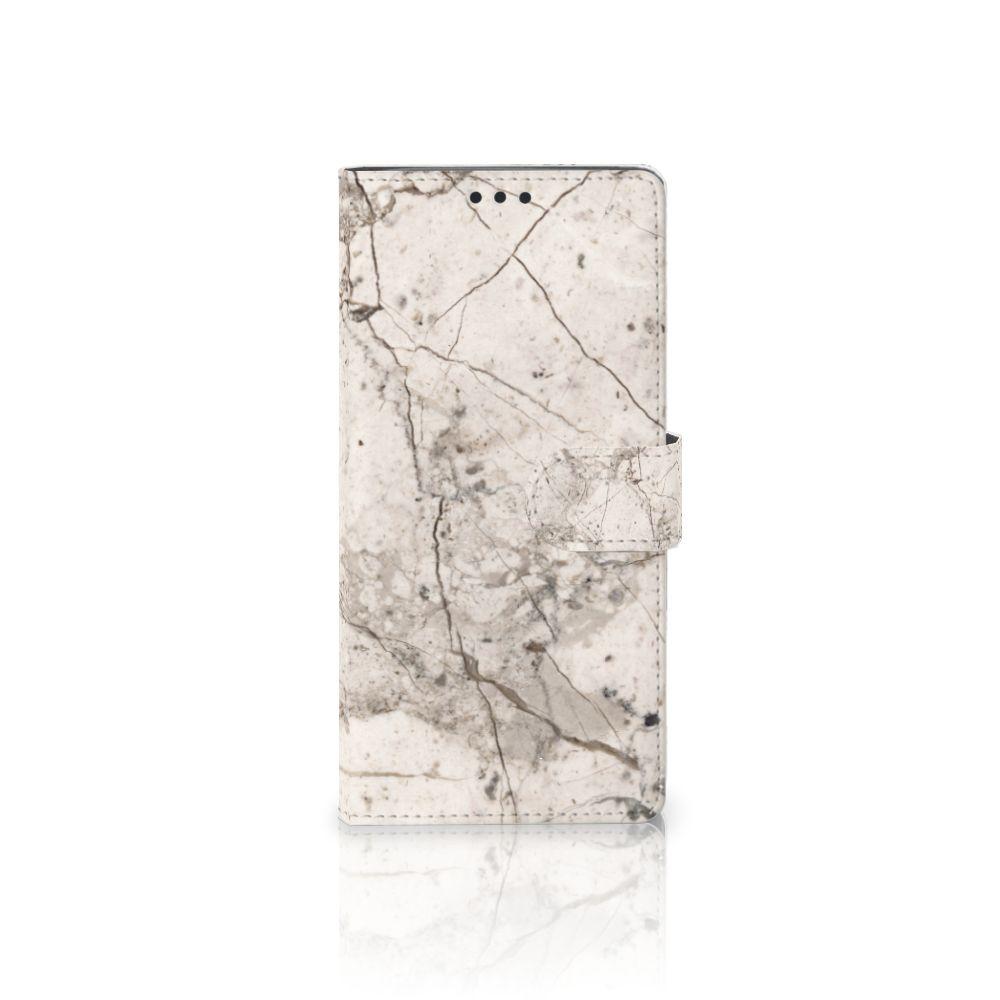 Sony Xperia XA Ultra Boekhoesje Design Marmer Beige