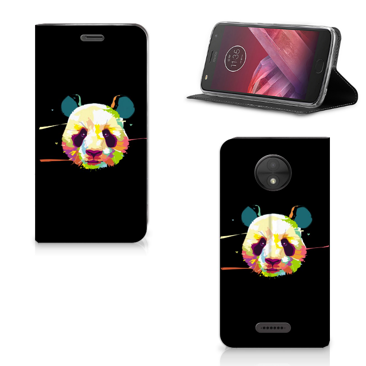 Motorola Moto C Magnet Case Panda Color