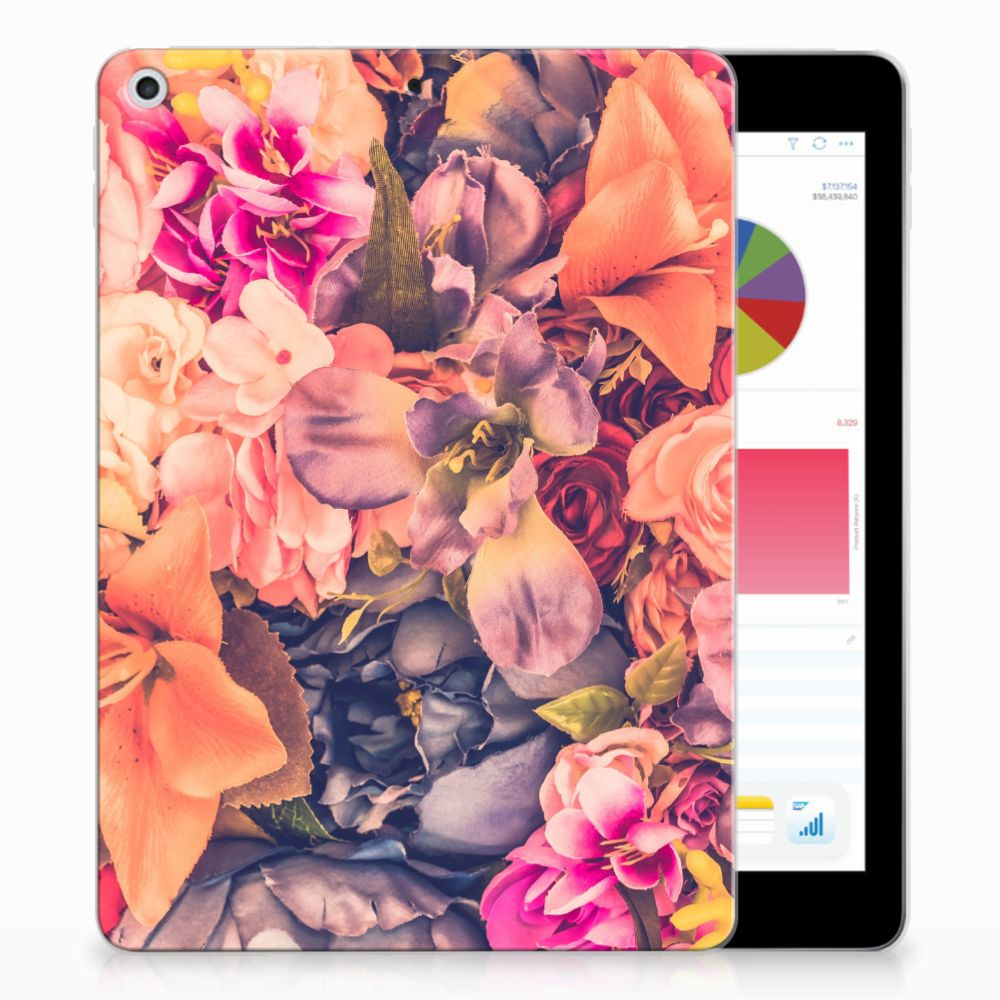 Apple iPad 9.7 2018 | 2017 Tablethoesje Design Bosje Bloemen