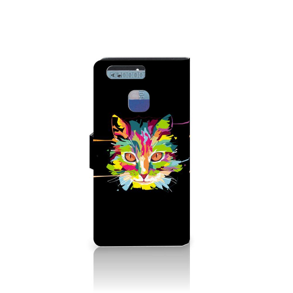 Huawei P9 Leuke Hoesje Cat Color
