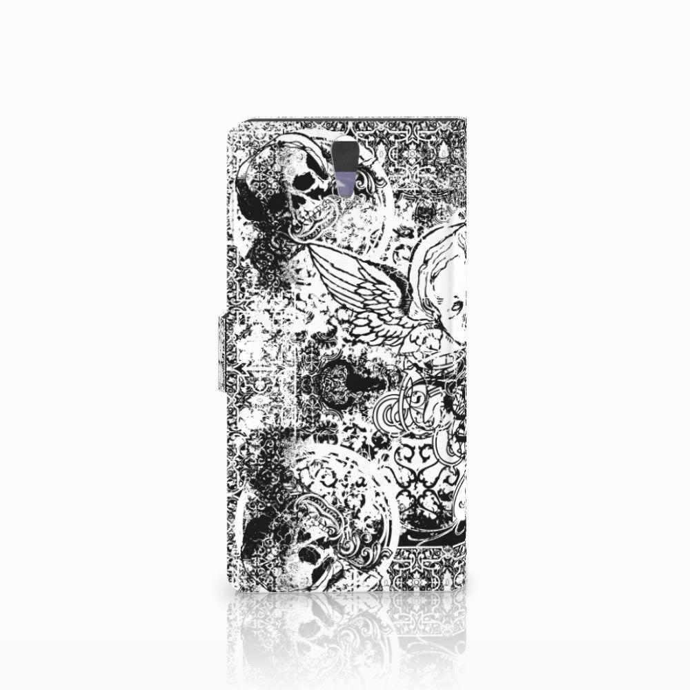 Telefoonhoesje met Naam Sony Xperia C5 Ultra Skulls Angel