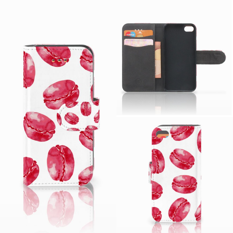 Apple iPhone 5C Book Cover Pink Macarons