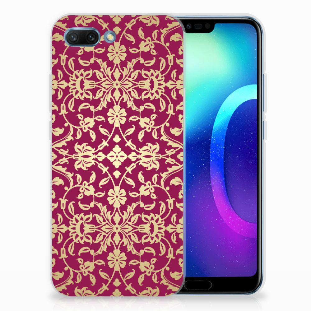 Siliconen Hoesje Huawei Honor 10 Barok Pink