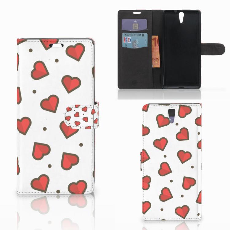 Sony Xperia C5 Ultra Telefoon Hoesje Hearts