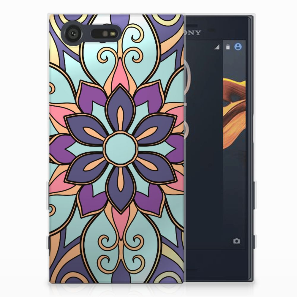 Sony Xperia X Compact TPU Hoesje Design Purple Flower