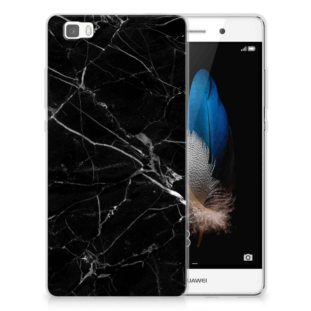 Huawei Ascend P8 Lite Uniek TPU Hoesje Marmer Zwart