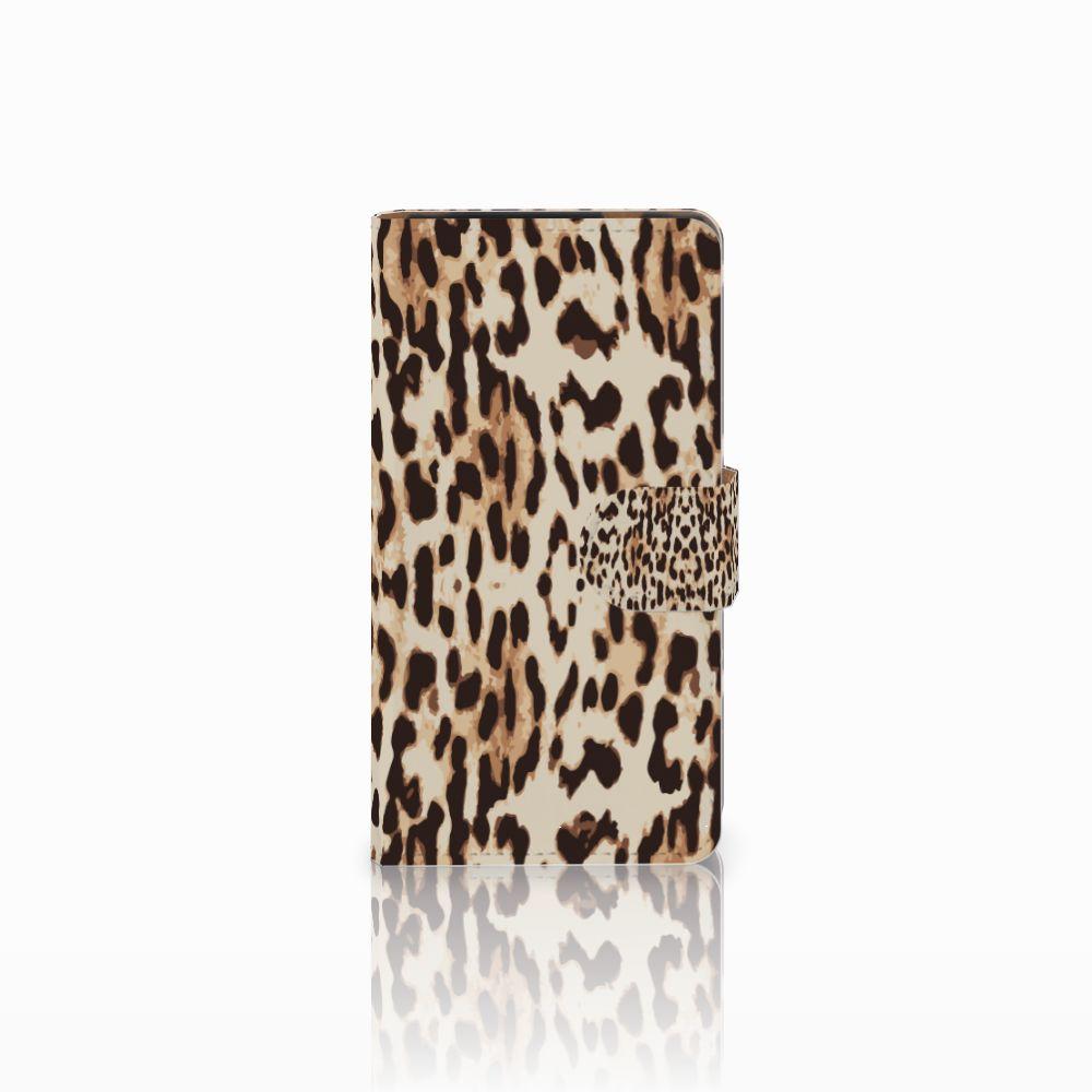 HTC Desire 601 Uniek Boekhoesje Leopard