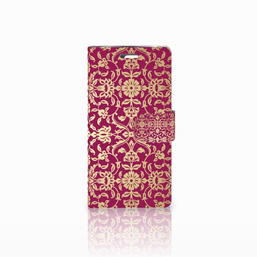 LG K10 2015 Boekhoesje Design Barok Pink
