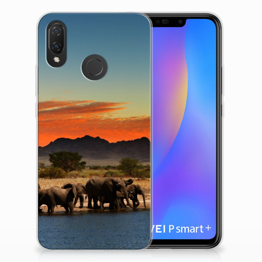 Huawei P Smart Plus TPU Hoesje Design Olifanten