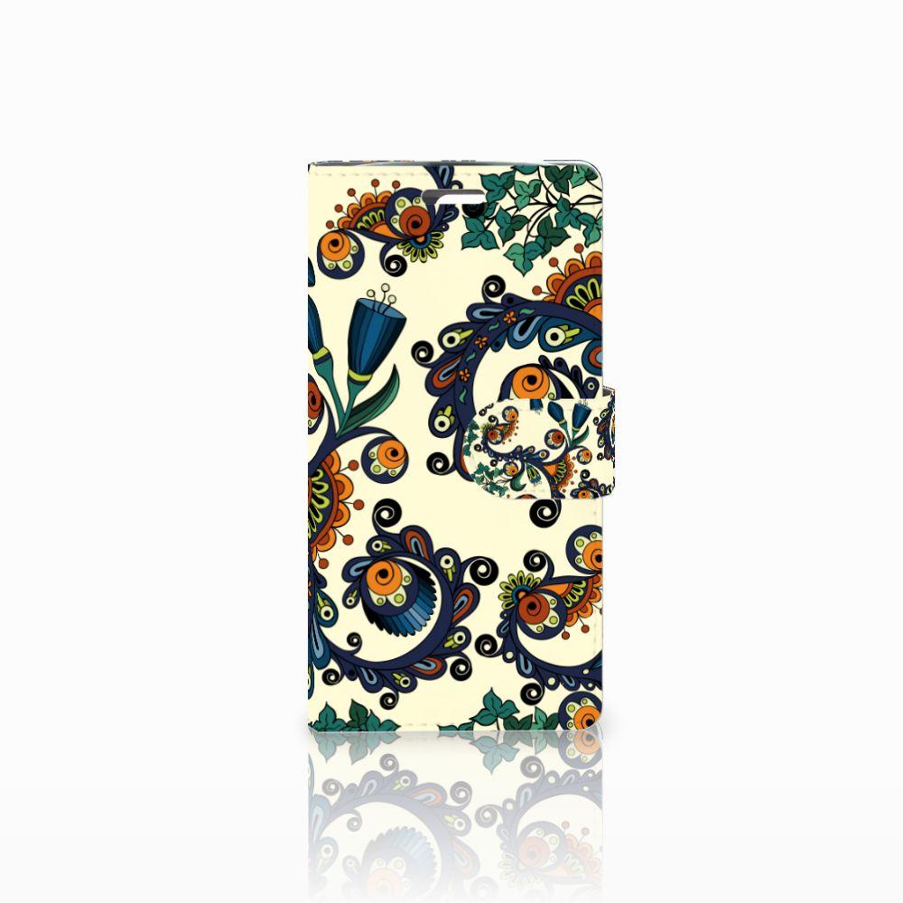 Wallet Case LG K10 2015 Barok Flower