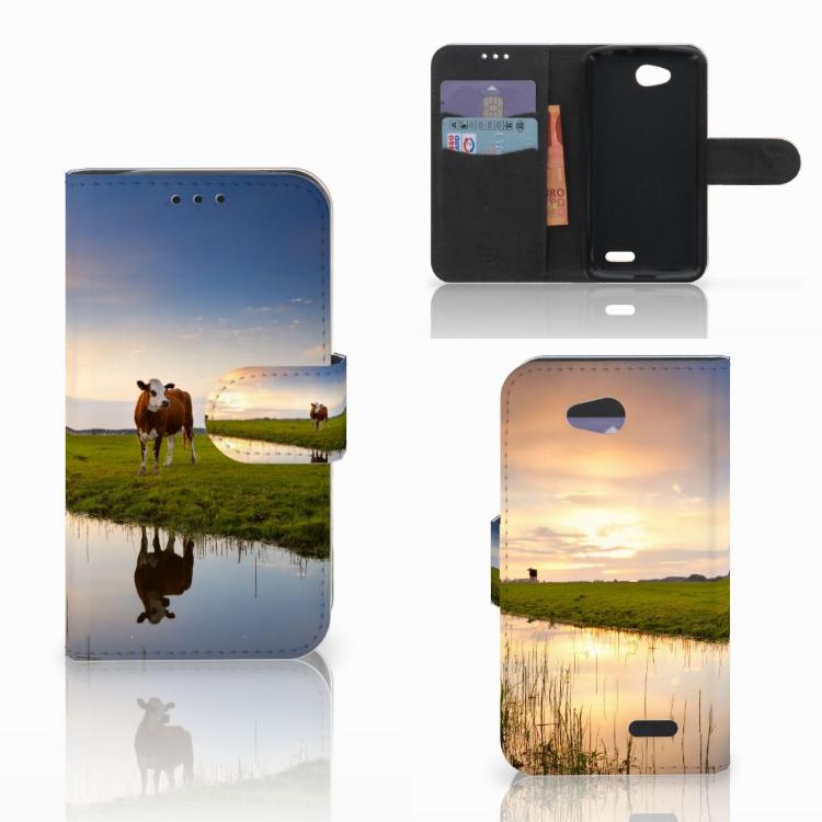 LG L90 Telefoonhoesje met Pasjes Koe