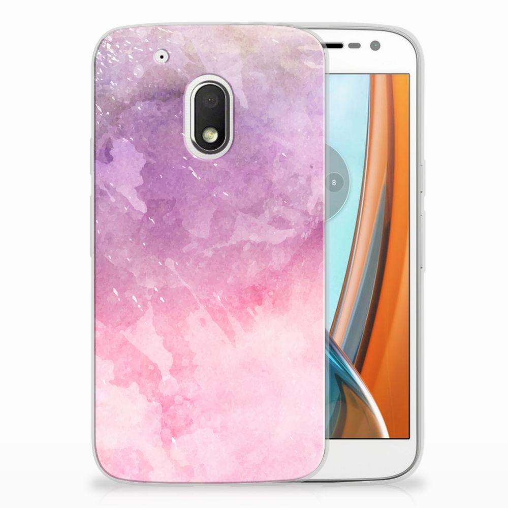 Motorola Moto G4 Play TPU Hoesje Design Pink Purple Paint