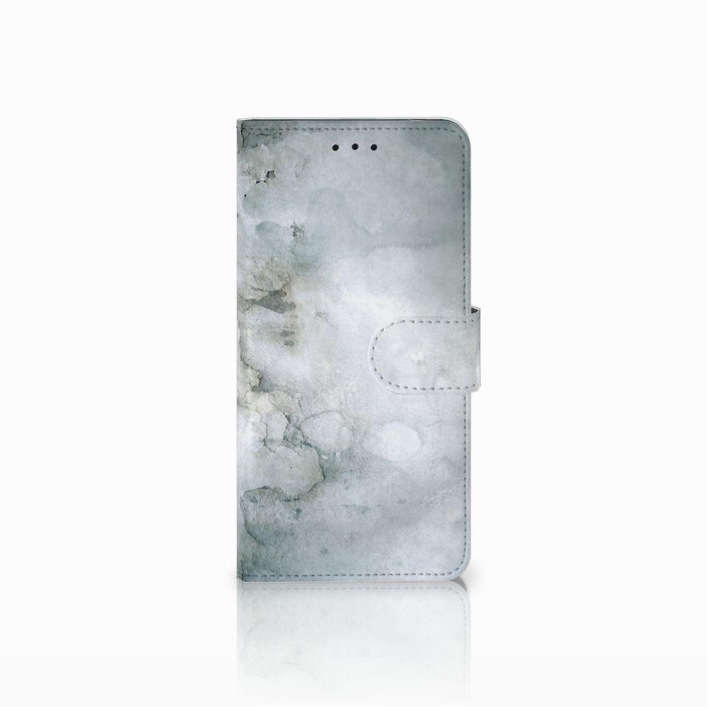 Motorola Moto E5 Uniek Boekhoesje Painting Grey