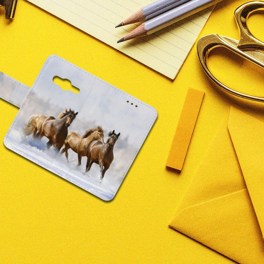 Samsung Galaxy Trend 2 Telefoonhoesje met Pasjes Paarden