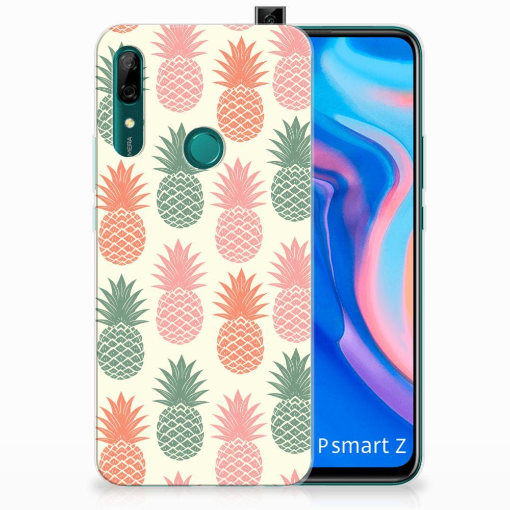 Huawei P Smart Z Siliconen Case Ananas