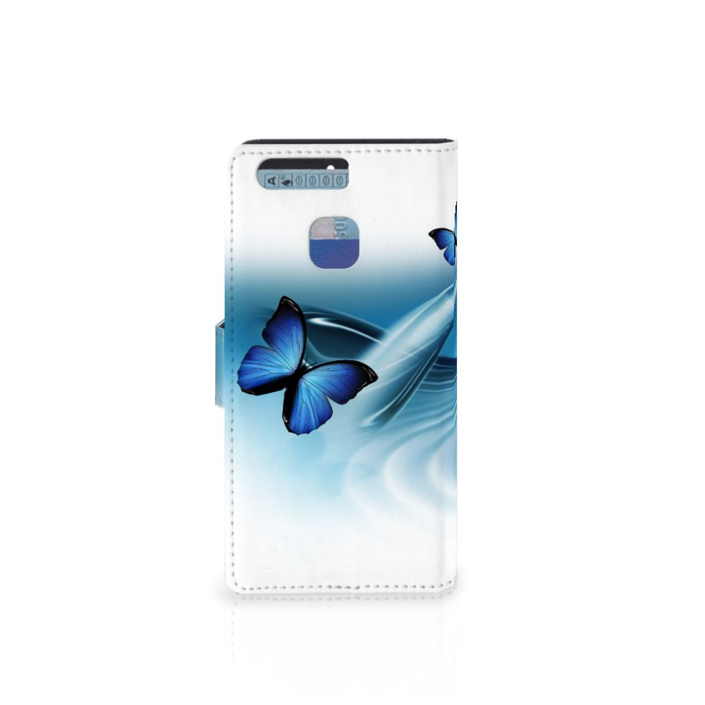Huawei P9 Telefoonhoesje met Pasjes Vlinders