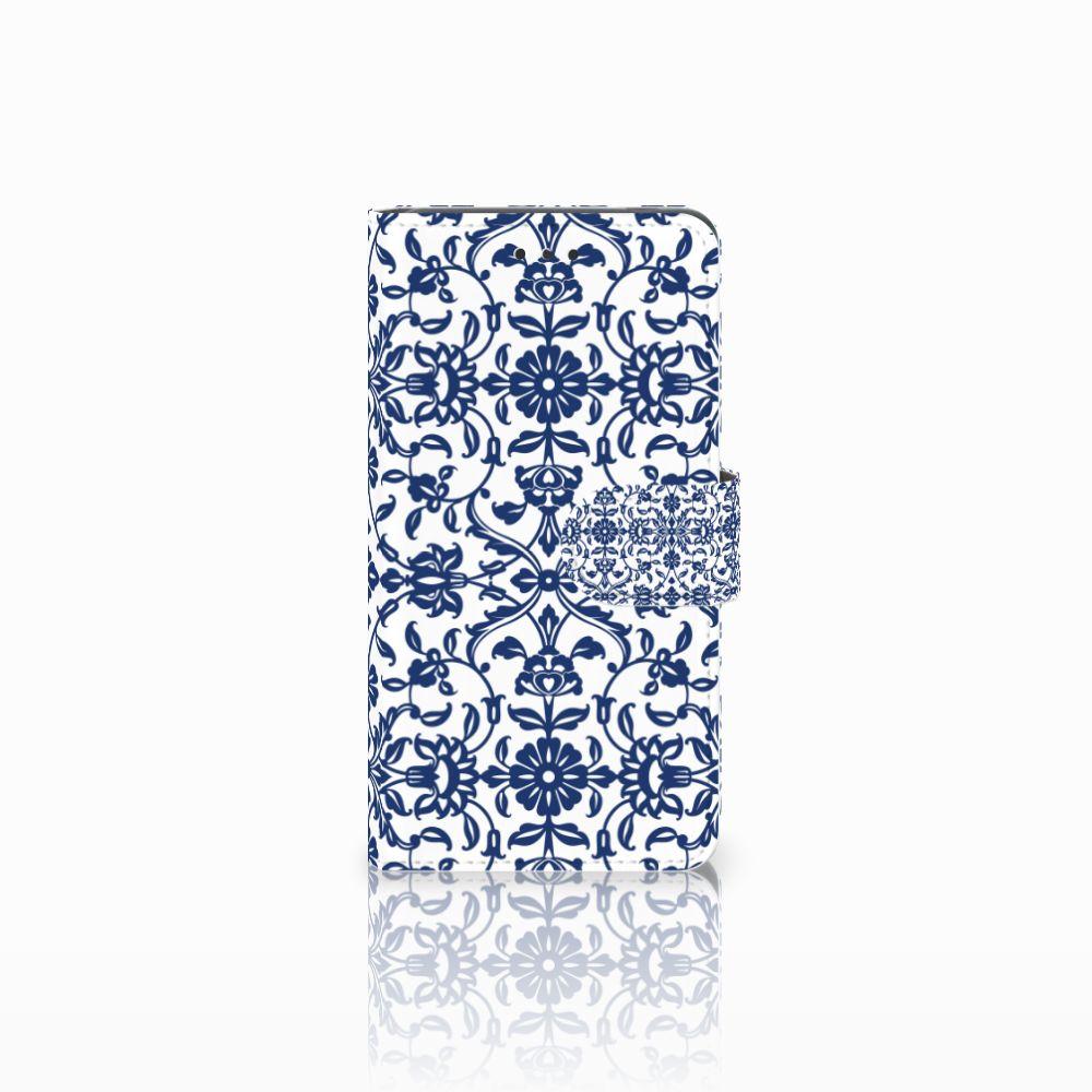 Nokia 7 Boekhoesje Flower Blue