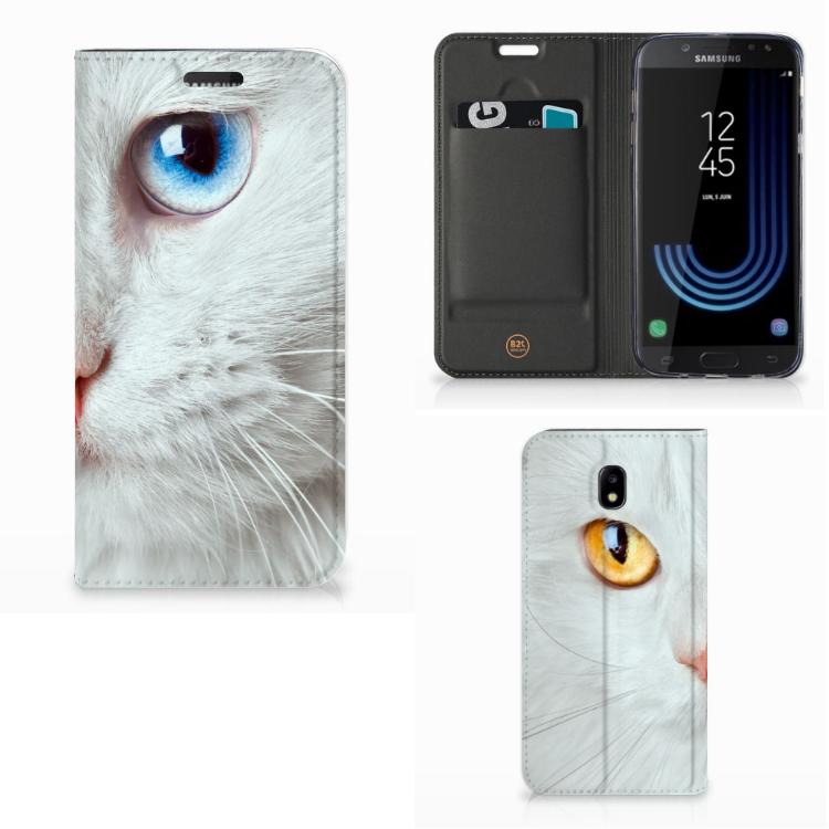 Samsung Galaxy J5 2017 Hoesje maken Witte Kat