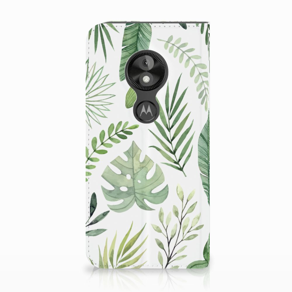Motorola Moto E5 Play Uniek Standcase Hoesje Leaves
