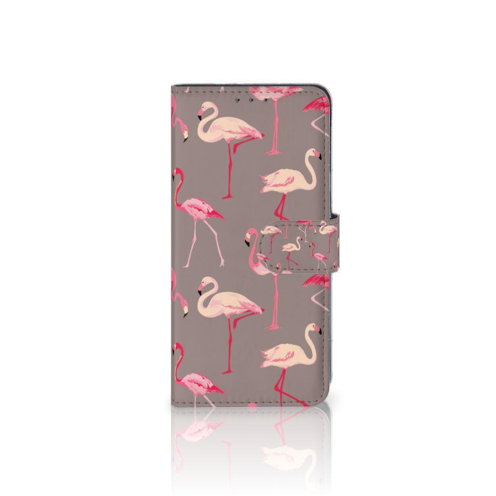 LG V40 Thinq Uniek Boekhoesje Flamingo